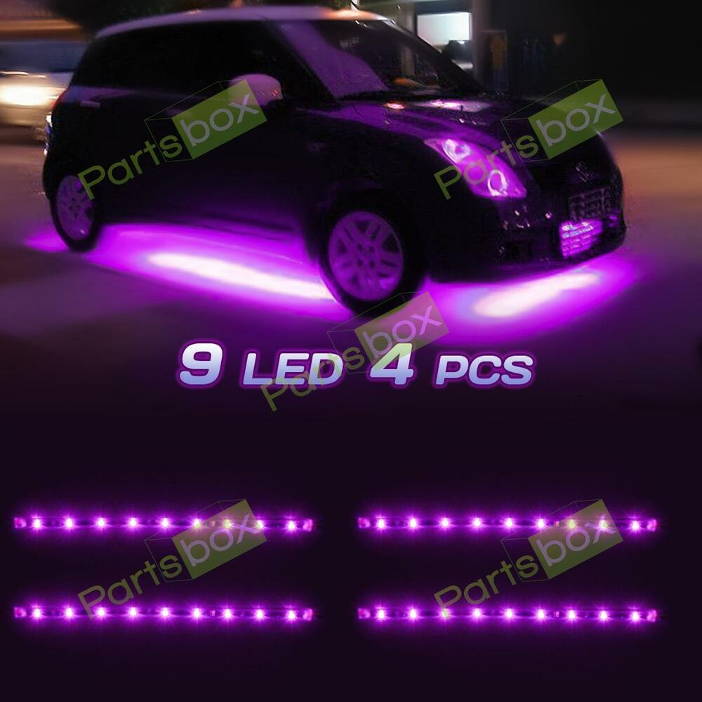 waterproof 36 led car strip under light neon footwell flexible interior pink 12v ebay. Black Bedroom Furniture Sets. Home Design Ideas