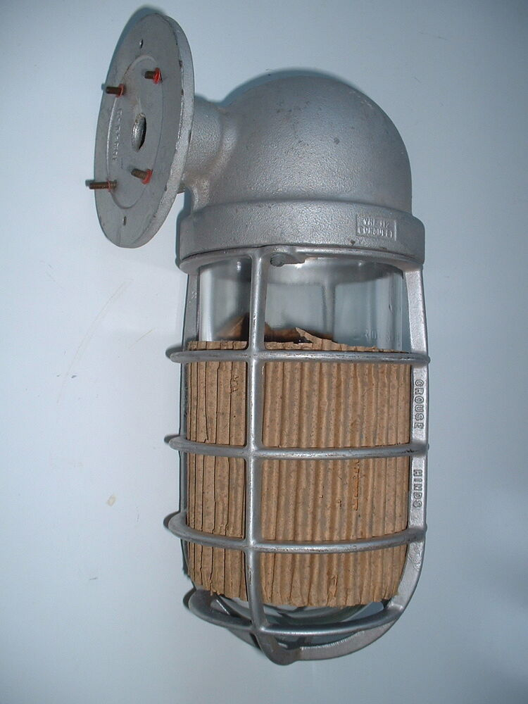 hinds explosion vintage industrial sconce porch light barn ebay