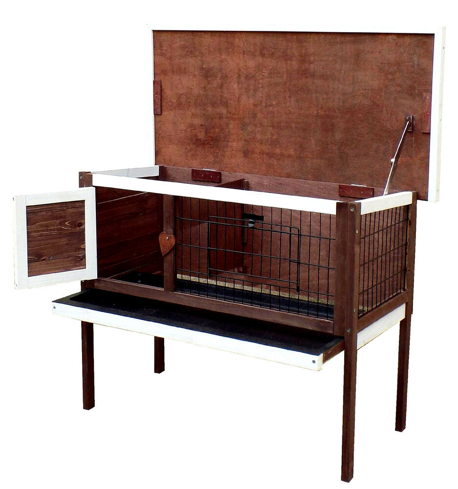 New small wooden pet cage house bunny rabbit guinea pig for Free guinea pig hutch