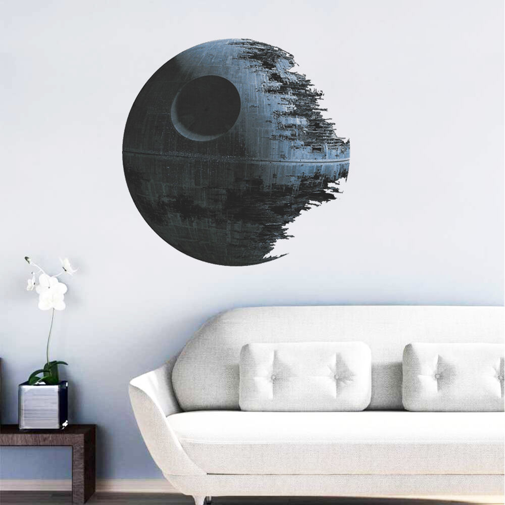 death star wars removable wall stickers kids boy room. Black Bedroom Furniture Sets. Home Design Ideas