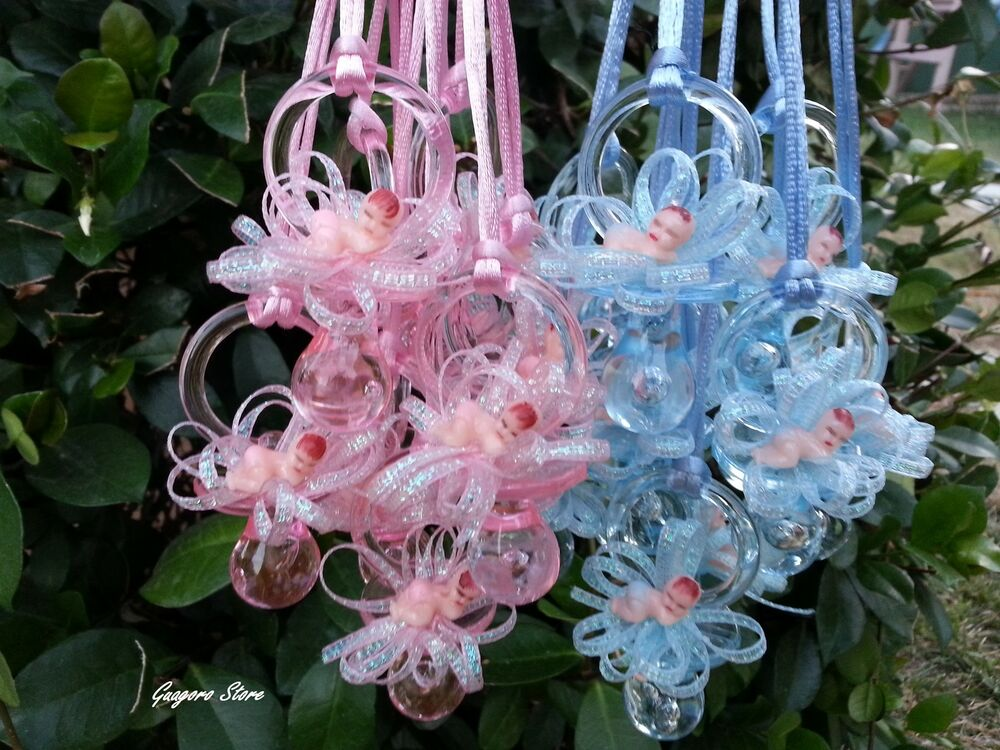 Pacifier necklaces baby shower game favors prizes boy girl for Baby decoration games