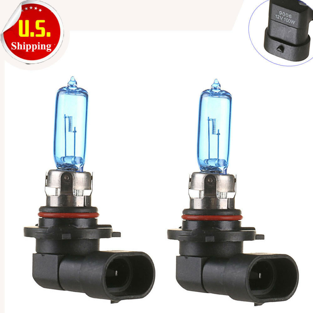 2pcs 9006 Hb4 12v 100w Super Bright White Halogen Head Light Lamp Bulbs Auto Car Ebay