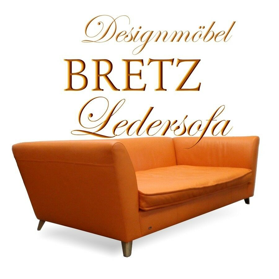 bretz sofa monster komplett original ledersofa 4 sitzer orange designerm bel ebay. Black Bedroom Furniture Sets. Home Design Ideas