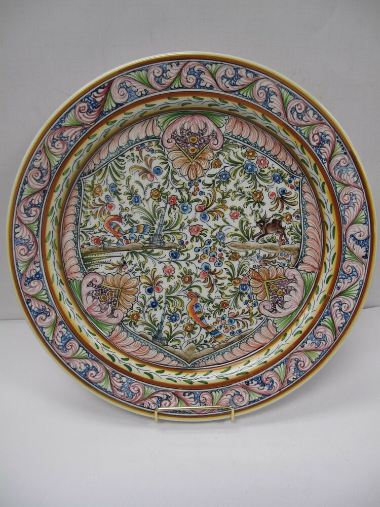 Made in portugal louca de coimbra hand painted decorative for Decoration plater