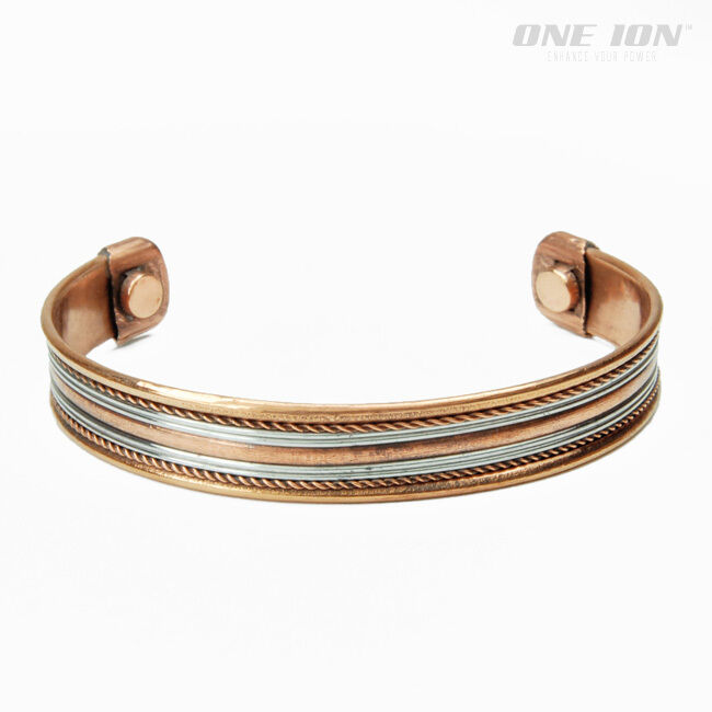 Details About One Ion Layered Wave Copper Magnetic Balance Bracelet Energy Band