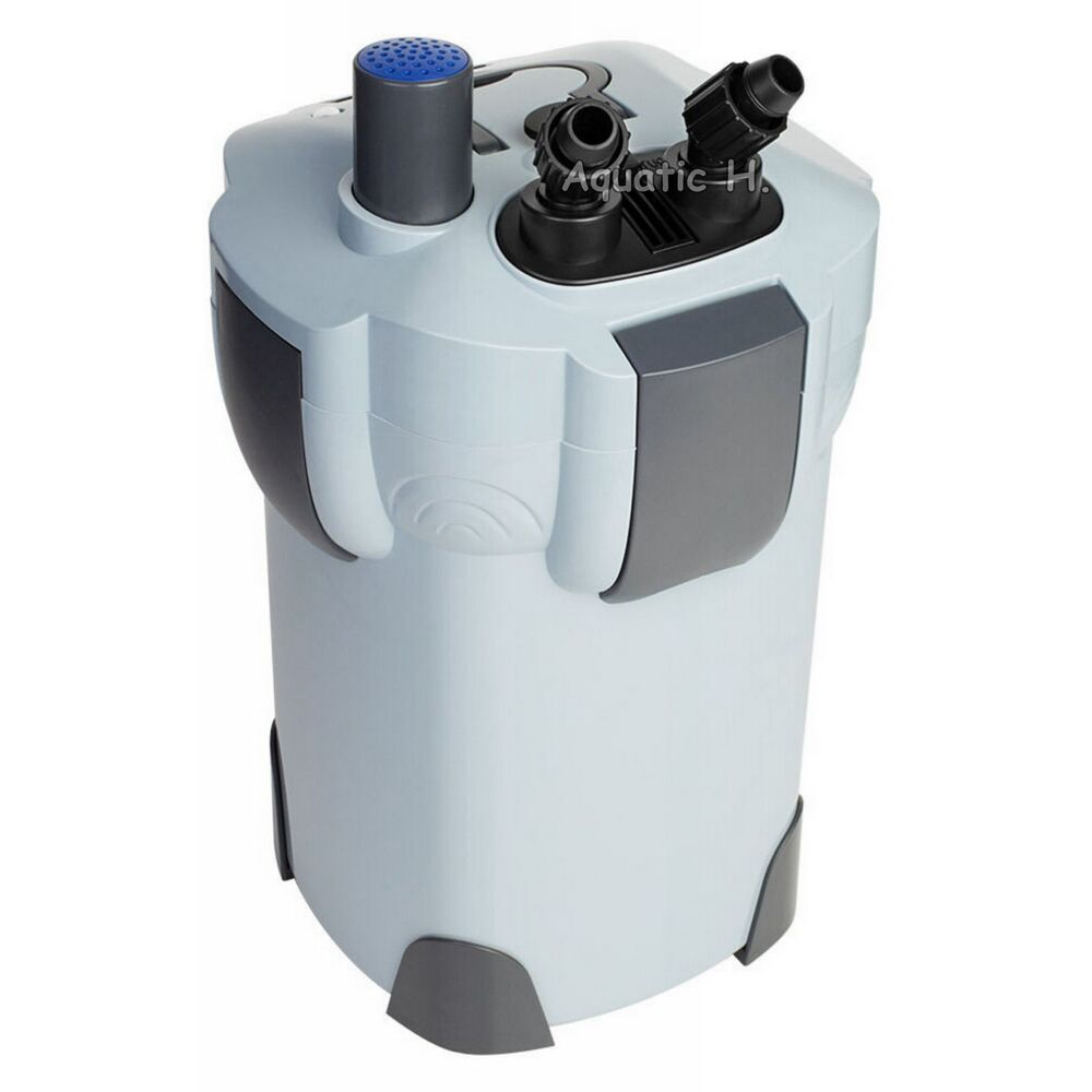 3 stage 75 gallon aquarium canister filter 9w uv for Uv filter for fish tank