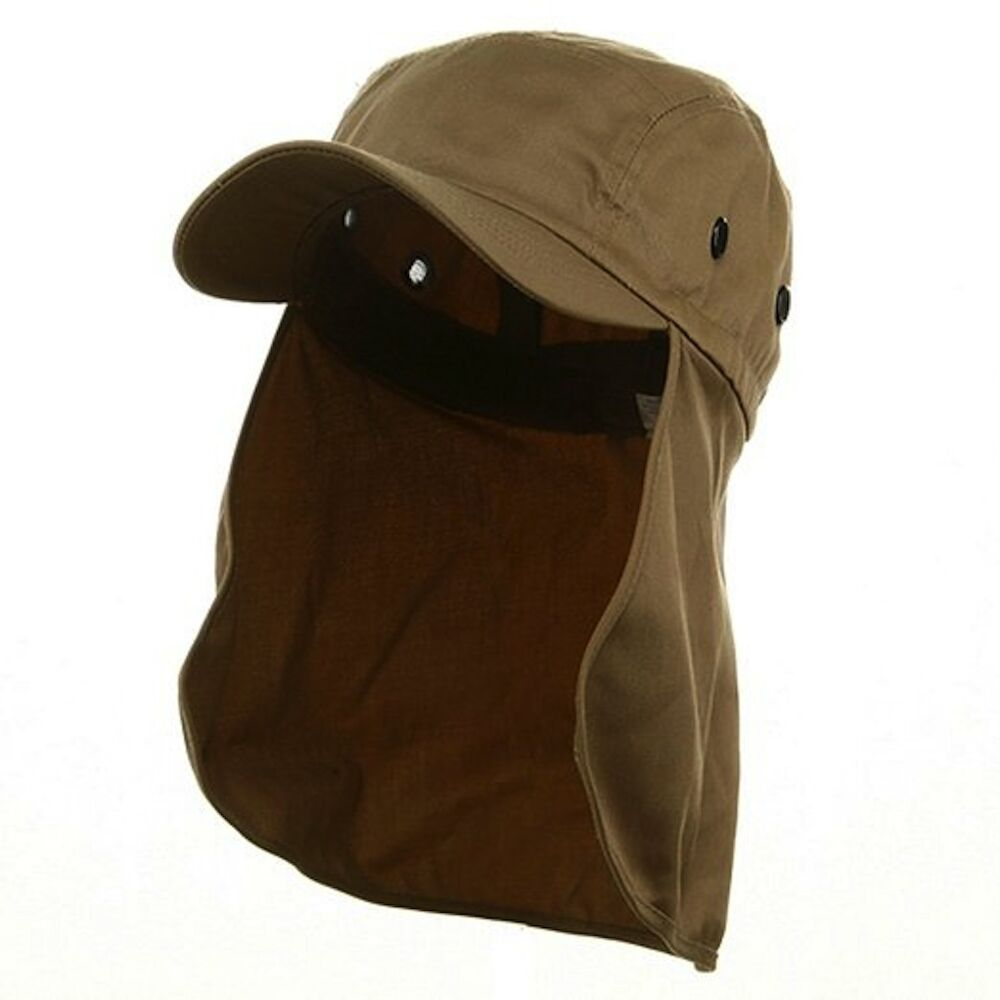 Sun flap hat with neck cover curved cotton baseball cap 10 for Fishing neck cover