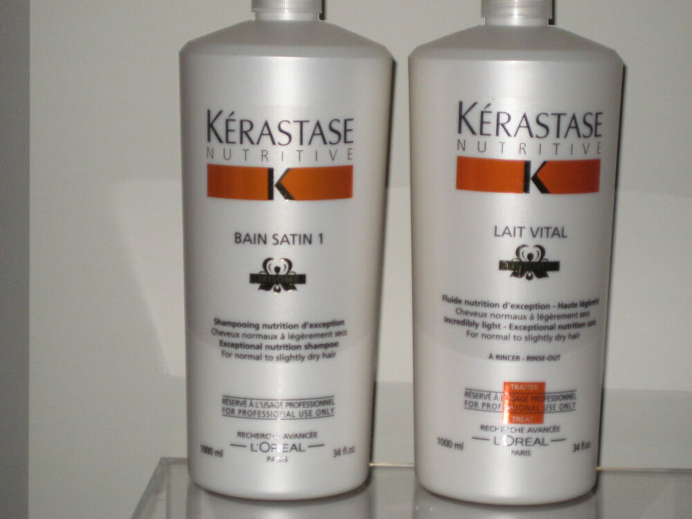 Kerastase 1l nutritive irisome bain satin 1 shampoo lait for Kerastase bain miroir conditioner