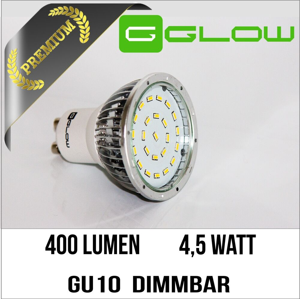 gu10 led dimmbar 400 lumen bei 4 5 watt warmwei 230v smd spot lampe ebay. Black Bedroom Furniture Sets. Home Design Ideas