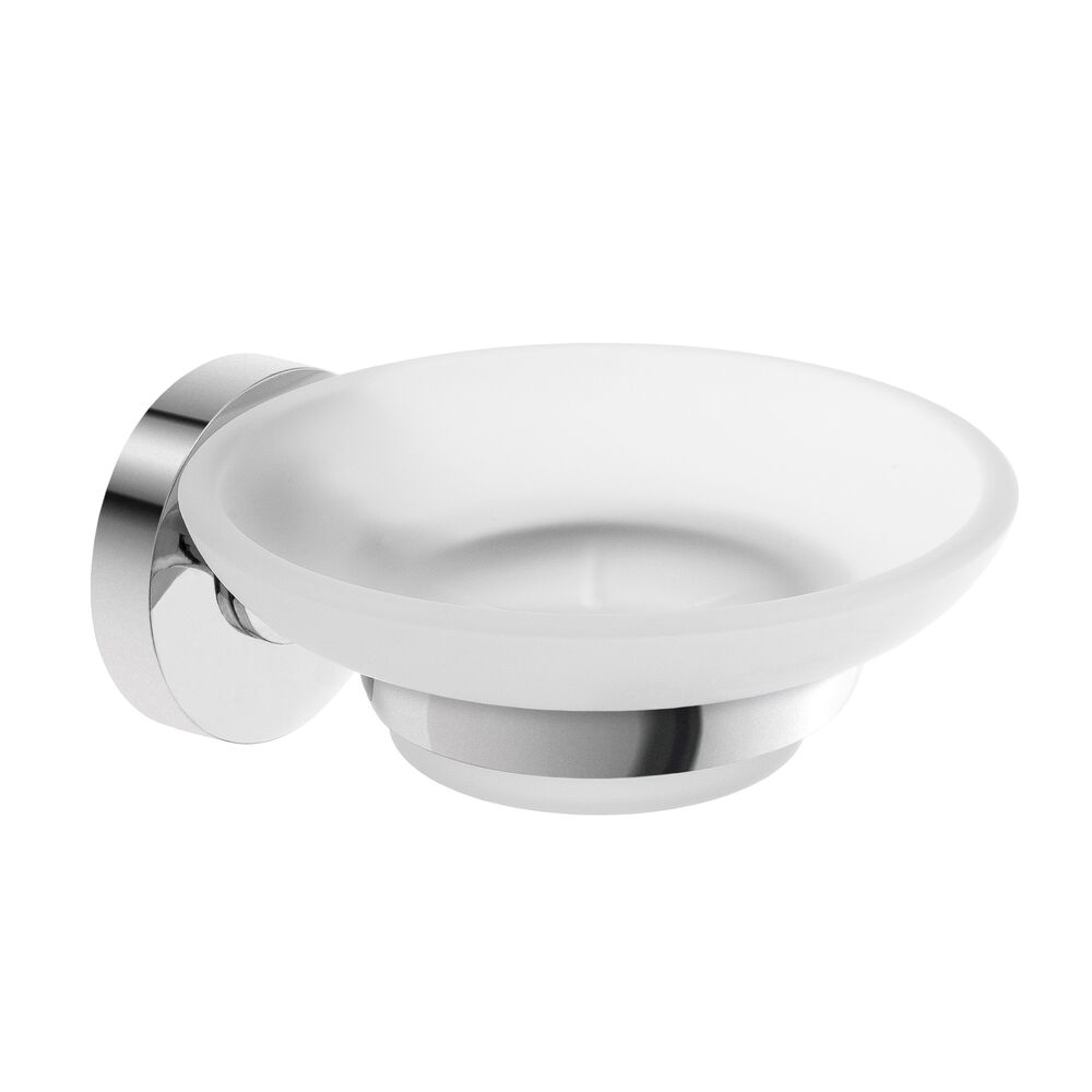 Savisto bathroom accessories hampton wall mounted frosted glass soap dish holder ebay for Wall mounted soap dishes for bathrooms