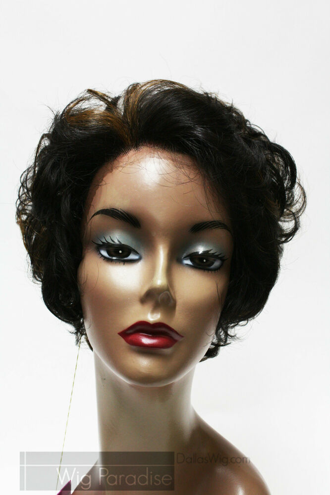 Short Soft Curl Synthetic Lace Front Wig Society Lace 08