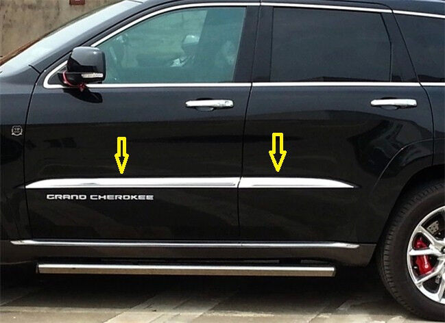 4pcs Chrome Door Body Side Molding Strip Trim Jeep Grand Cherokee 2014 2018 Ebay