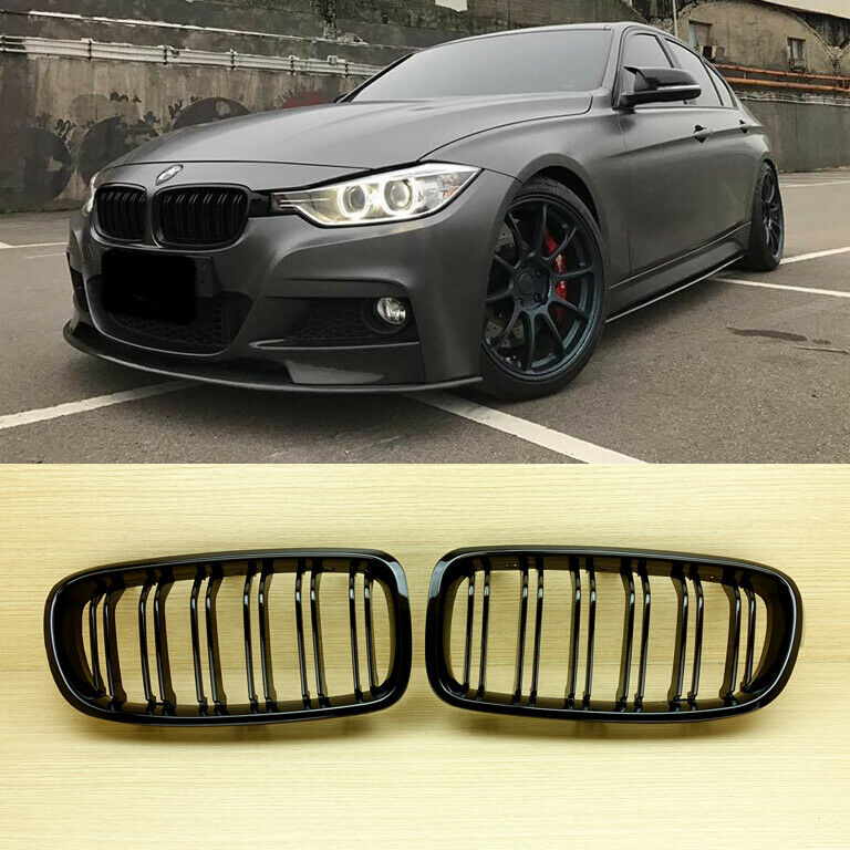glossy black bmw f30 f31 m3 style front grille grill 328i. Black Bedroom Furniture Sets. Home Design Ideas