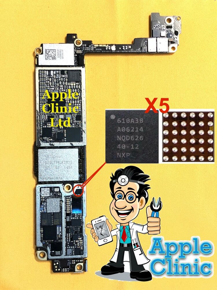 u3 chip ic 6 pin for iphone 5 5g battery pry damage power. Black Bedroom Furniture Sets. Home Design Ideas