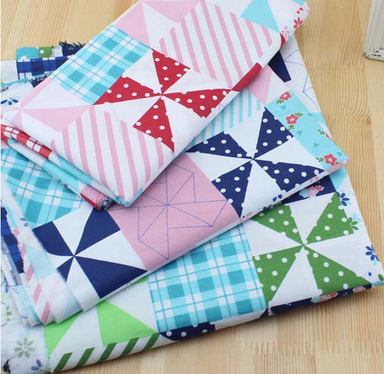 One PCS Cotton Fabric Pre-Cut Cotton cloth Fabric for Sewing pinwheel pattern S2 eBay