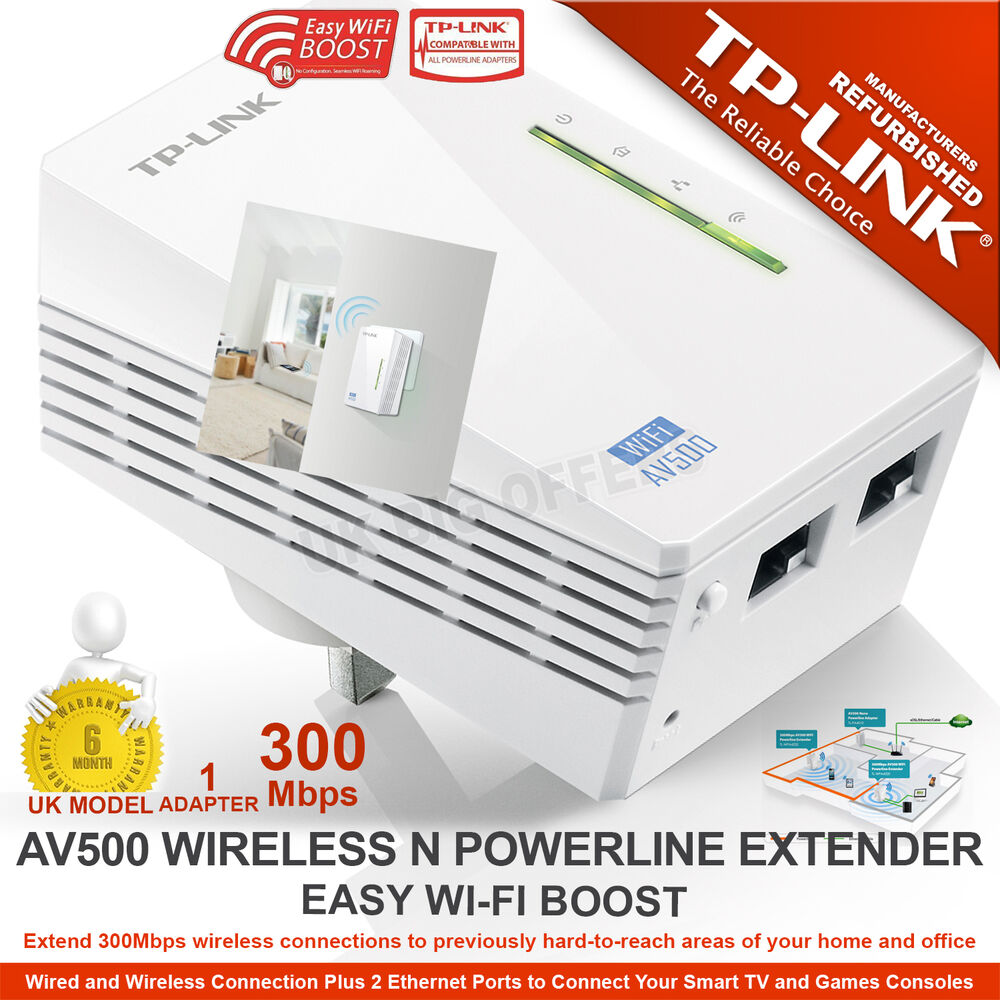 Tp link av500 wifi powerline extender 300mbps ethernet - Wireless extender with ethernet ports ...