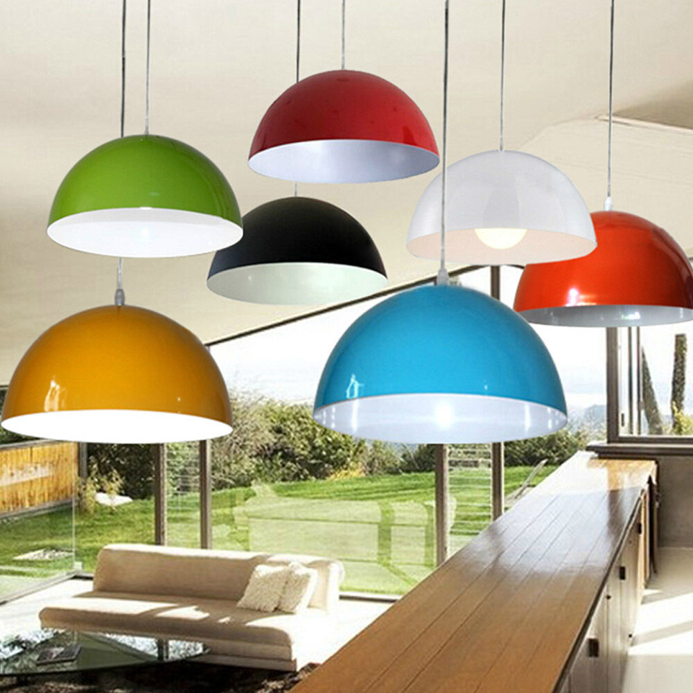 modern metal cylinder multi color lampshade pendant. Black Bedroom Furniture Sets. Home Design Ideas