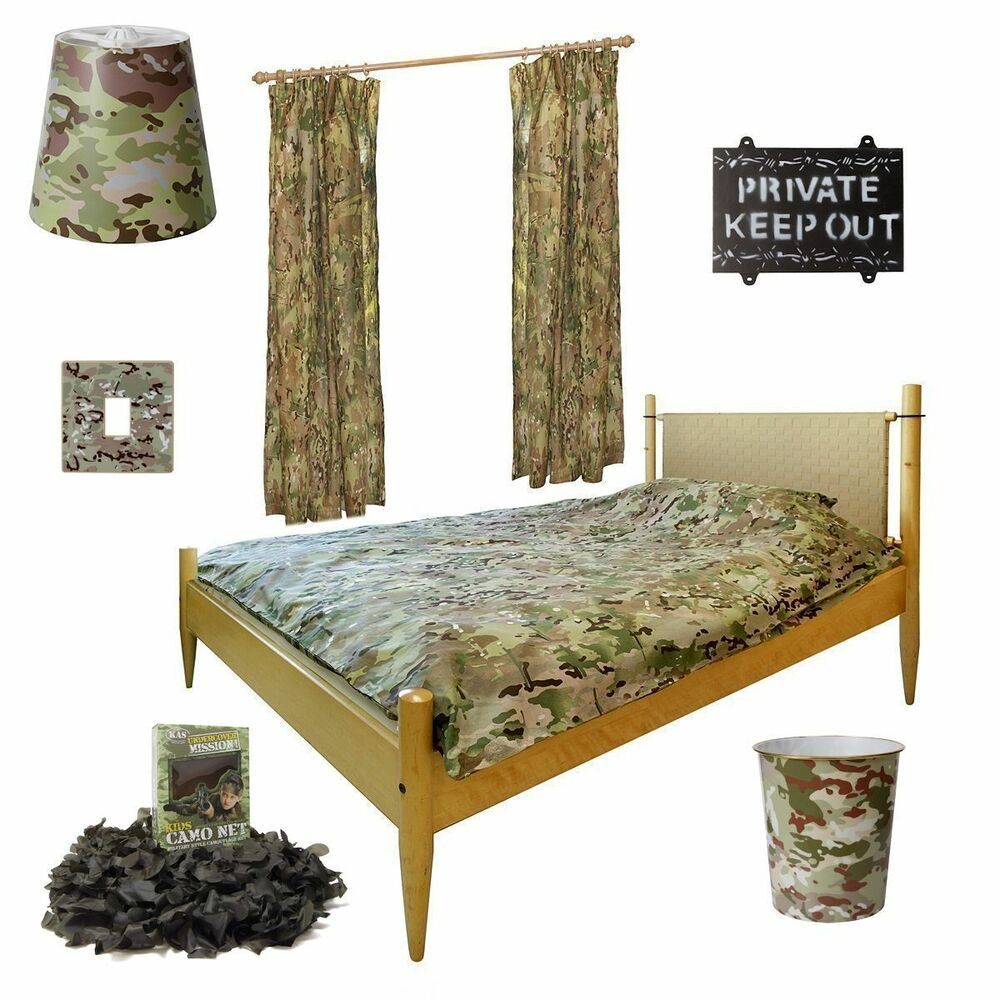Kids army deluxe bedroom set mtp camo bedroom set army for Camo kids bedroom ideas