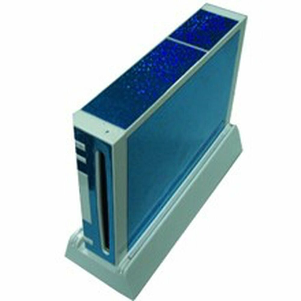 Blue wii console