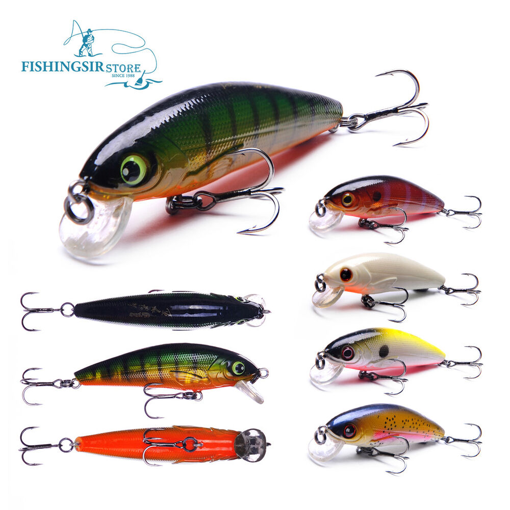 Floating shallow diving shad minnow crankbaits fishing for Ebay fishing lures