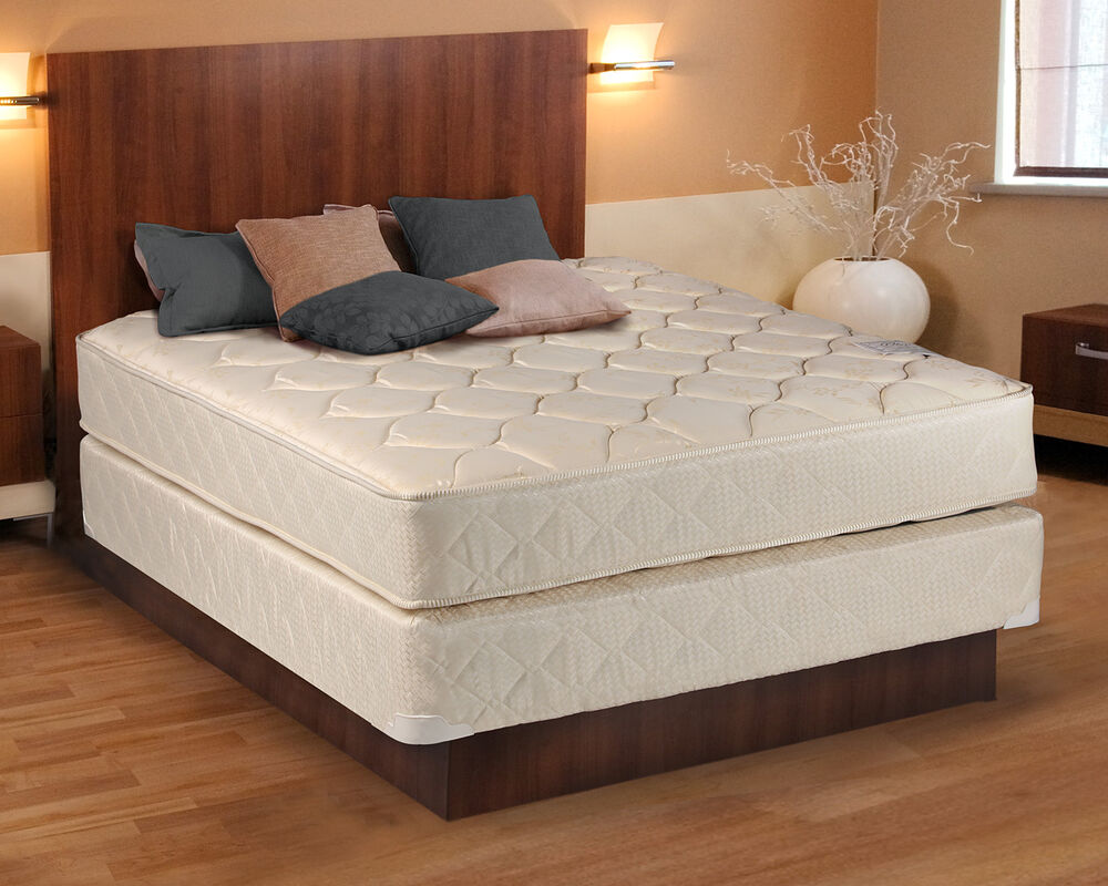 Comfort Classic Gentle Firm Beige Twin Size Mattress And Box Spring Set Ebay