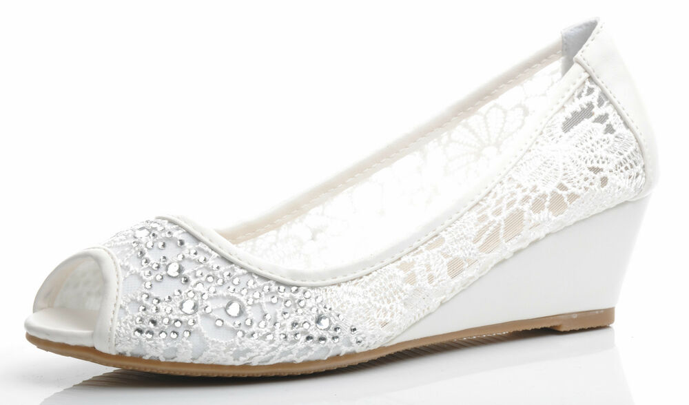 Off White Wedding Shoes Bridal