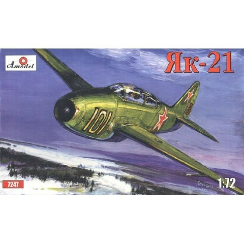 yak 21 soviet jet fighter yakovlev design bureau 1 72 amodel 7247 ebay. Black Bedroom Furniture Sets. Home Design Ideas