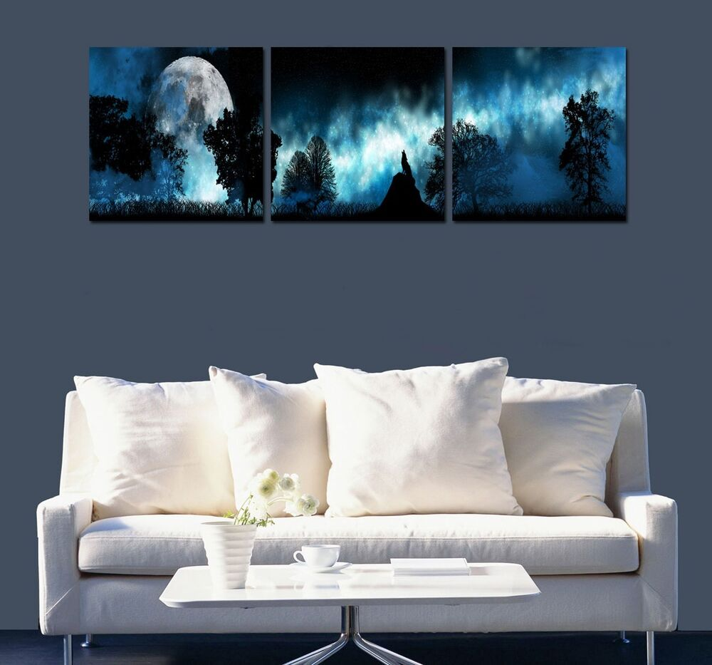 Home decor hd canvas print wall art painting picture wolf for Prints for home decor