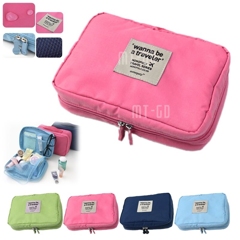 Multifunction Travel Cosmetic Bag Makeup Case Pouch Toiletry Organizer