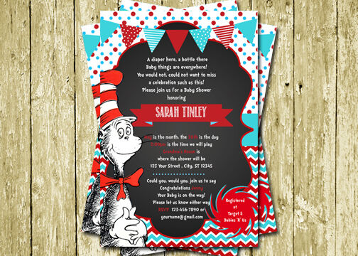 Cat In The Hat Baby Shower Invitations could be nice ideas for your invitation template