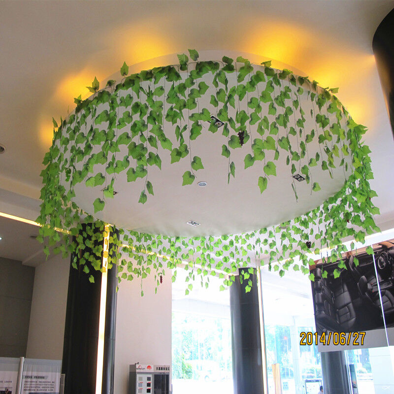 1x home decor artificial ivy grape leaf garland plants for Artificial grape vines decoration