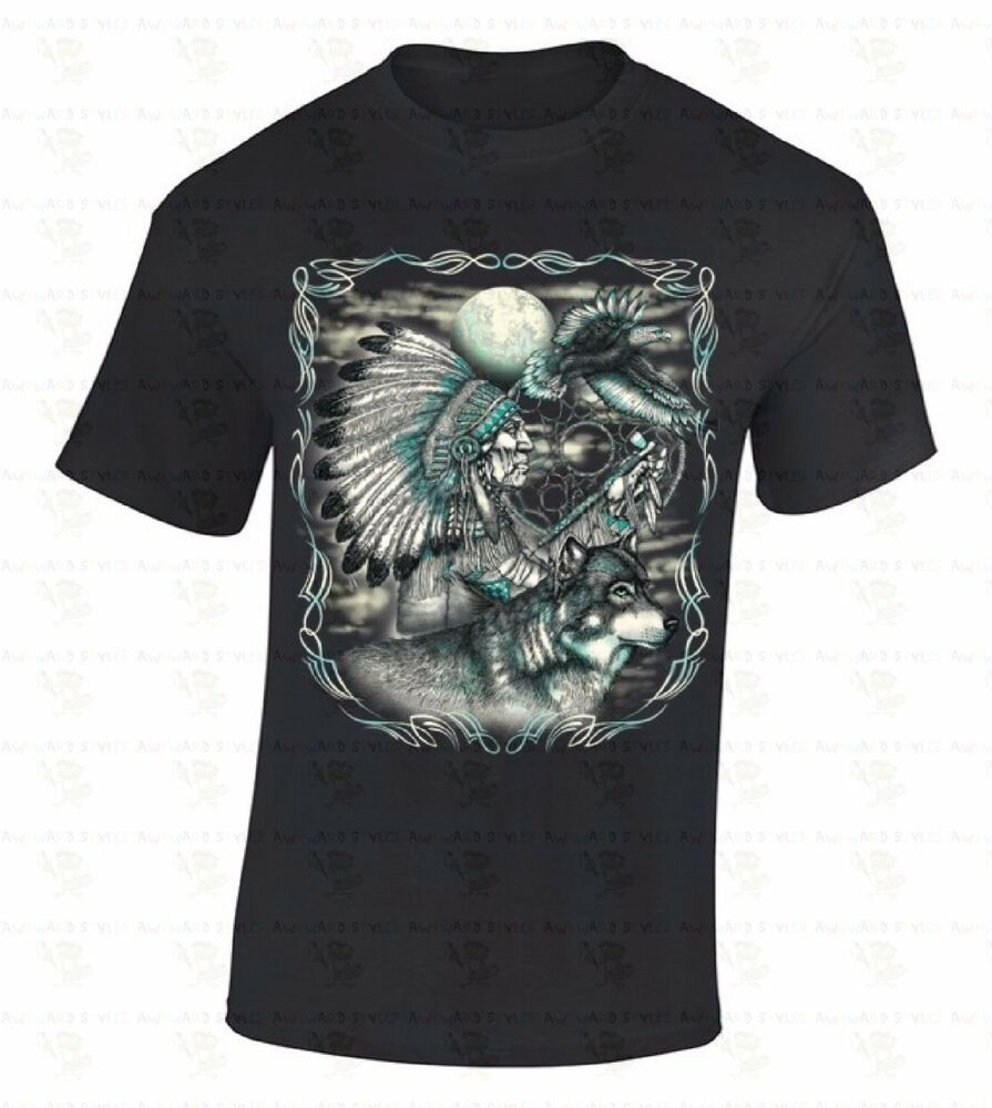 Chief Wolf Eagle T-SHIRT Native American Dream Catcher ...