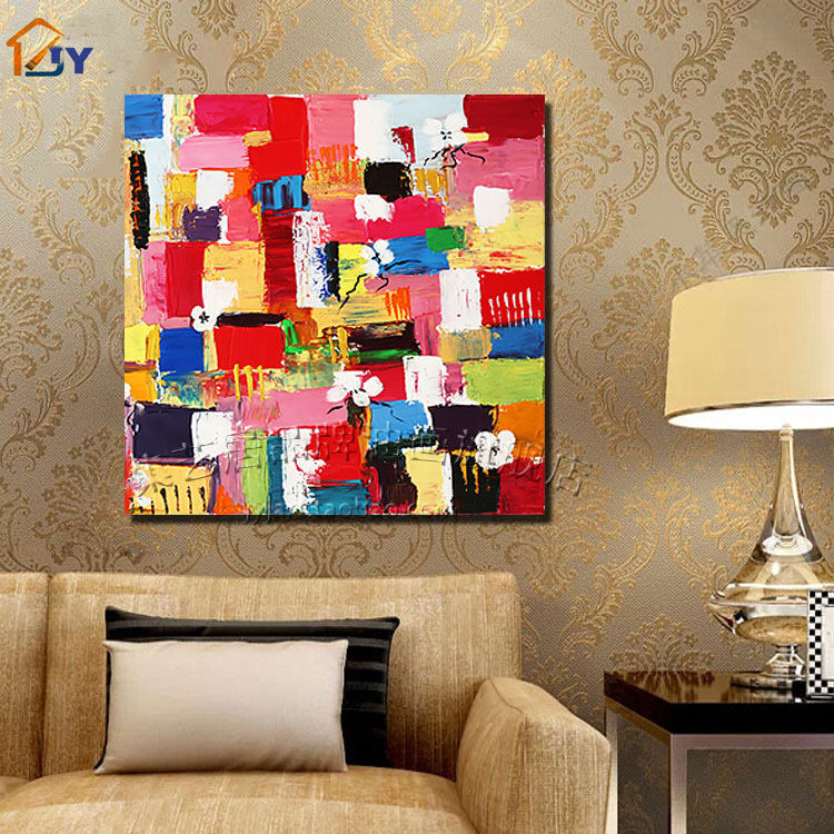 Colorful Wall Decor Asian Modern Abstract Art Oil Painting