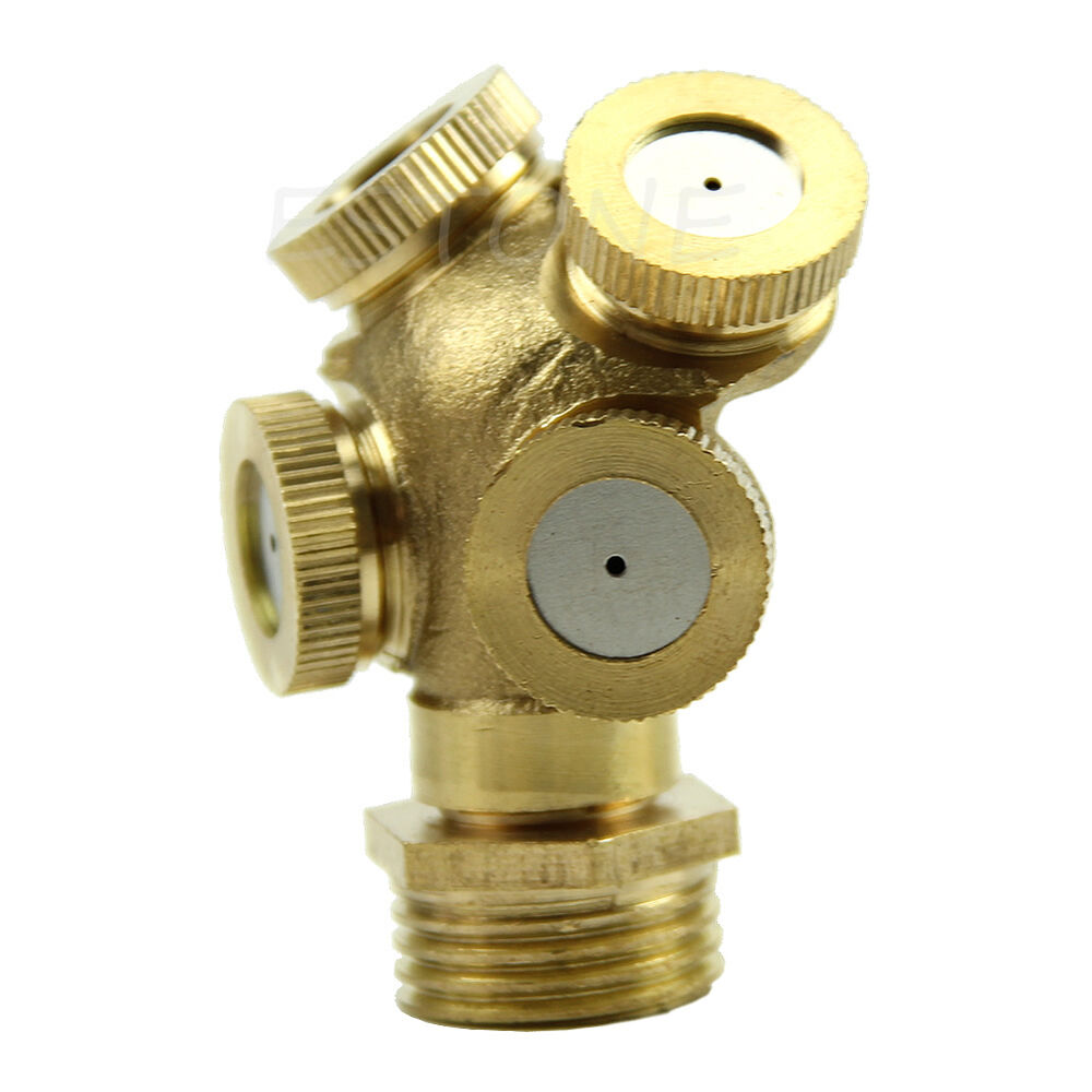 Adjustable brass spray misting nozzle garden sprinklers