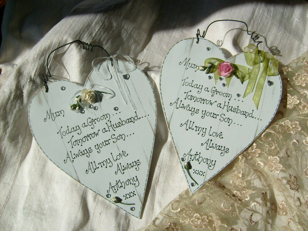 Wedding Gift for Mother of the Groom Personalized shabby chic wooden ...