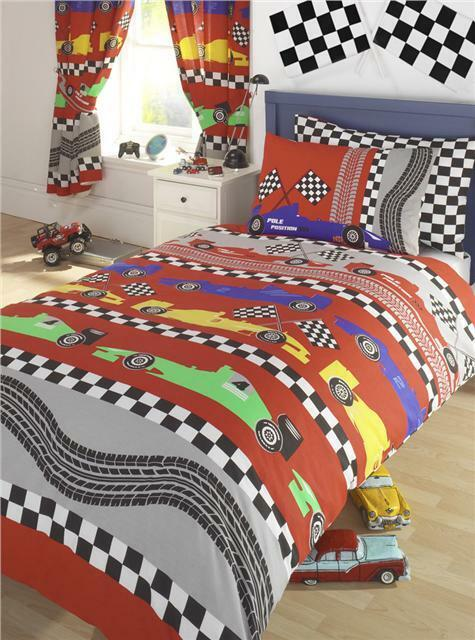 race car bedroom new boys racing car bedding duvet cover sets 13034