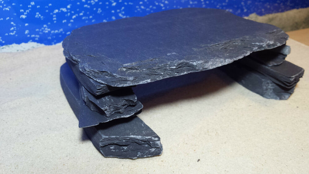 Fennstones medium build your own natural slate rock cave for Build your own fish tank