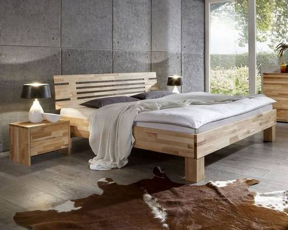 dico massivholzbett 330 200x200 cm kernbuche natur ge lt bettgestell ehebett ebay. Black Bedroom Furniture Sets. Home Design Ideas