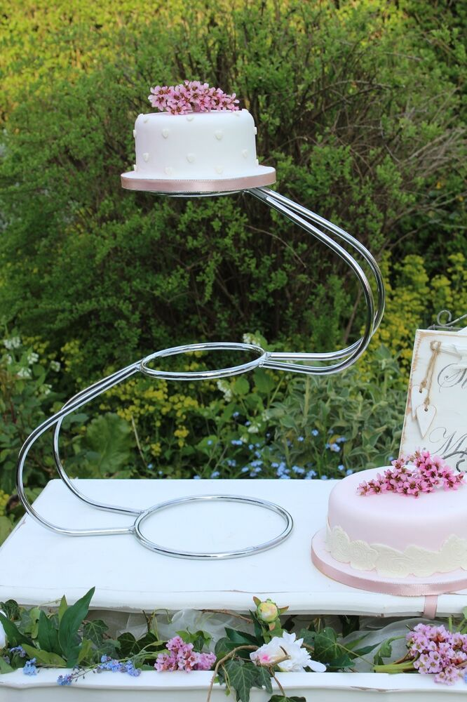 hire wedding cake stands uk 3 tier silver swan wedding cake stand for hire essex ebay 15247