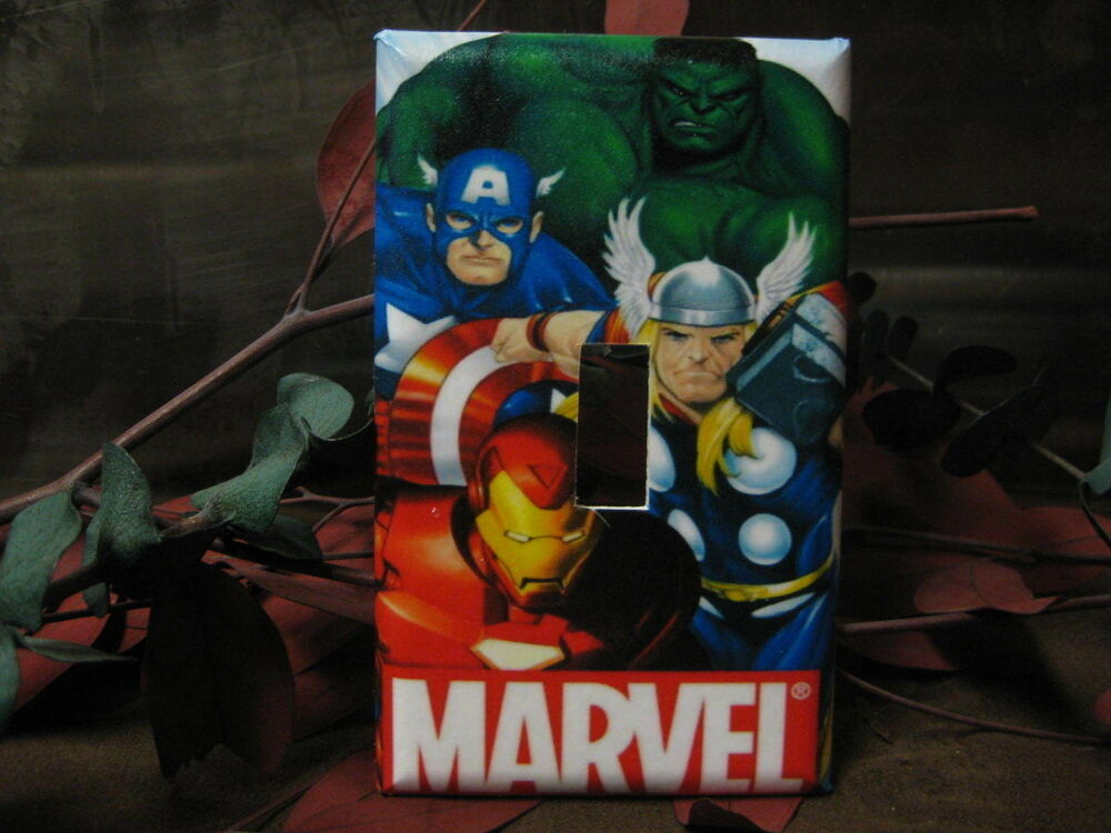 Marvel AVENGERS Light Switch Wall Plate Cover #2