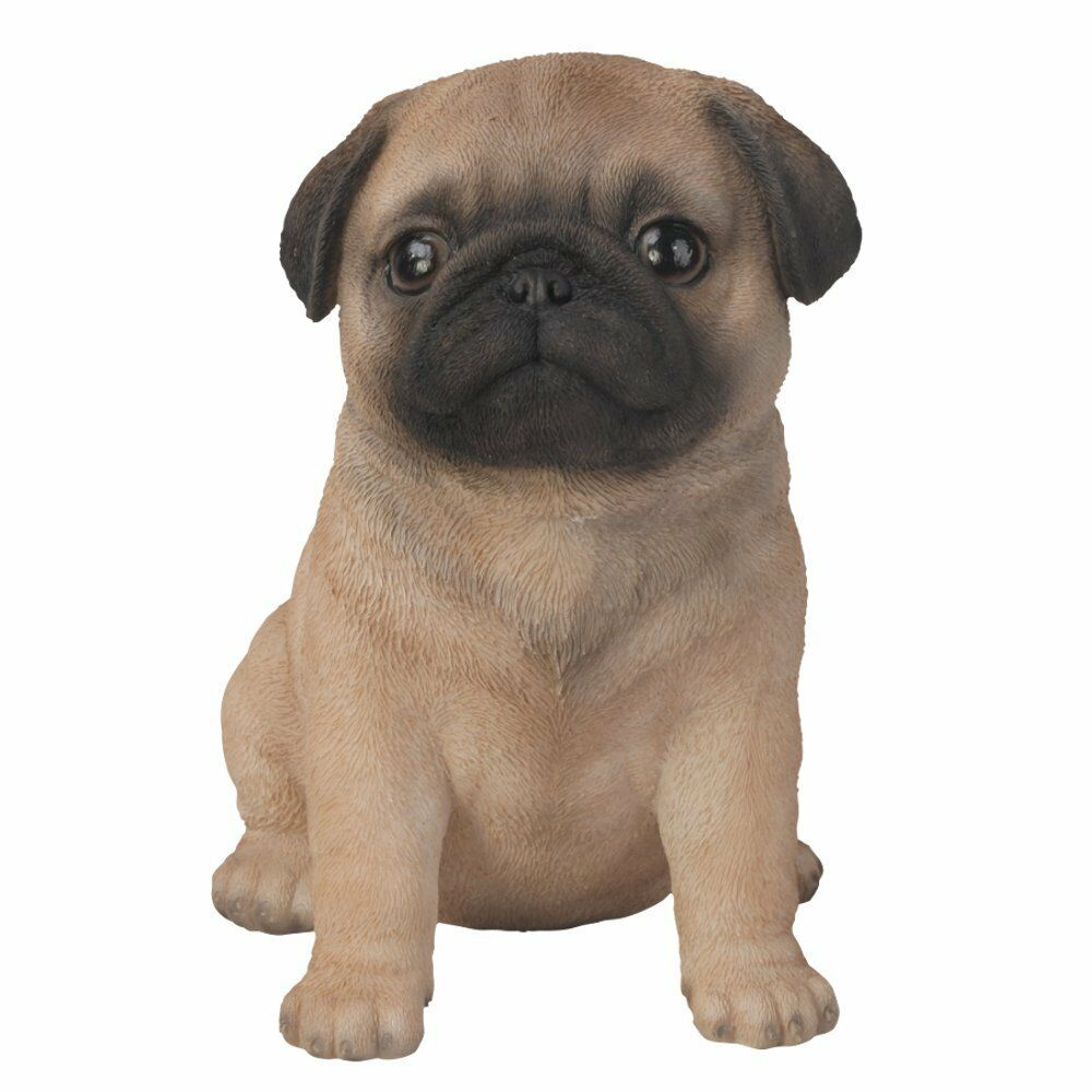 brand new pug puppy garden ornament