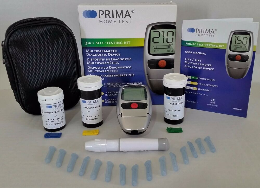Prima Cholesterol 3in1 Test Meter Kit Ebay