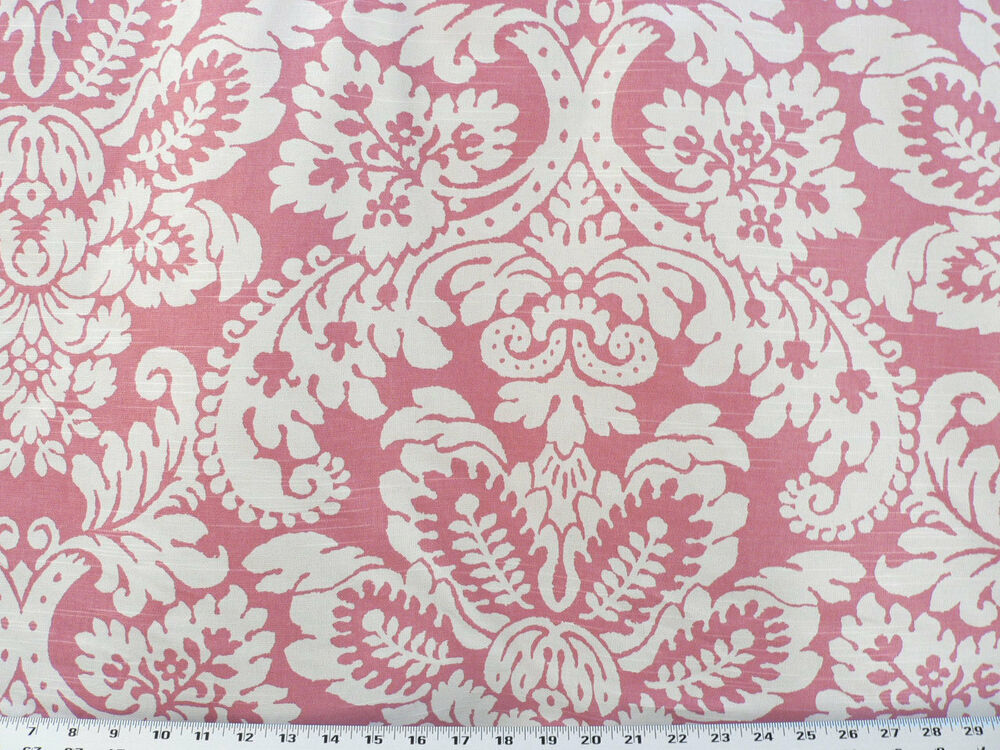 Drapery upholstery fabric ivory large scale floral print for Floral upholstery fabric