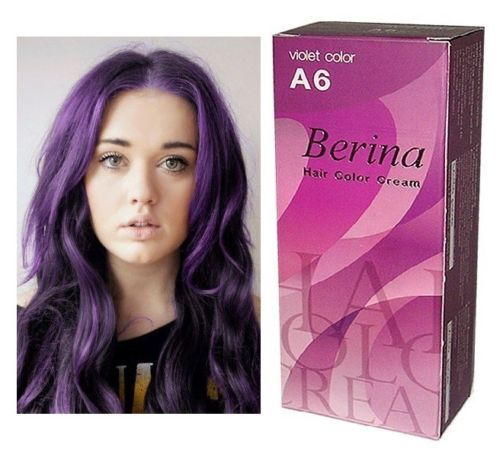 Hair Cream Semi Permanent Dye Color Purple Punk Berina No A6 Ebay