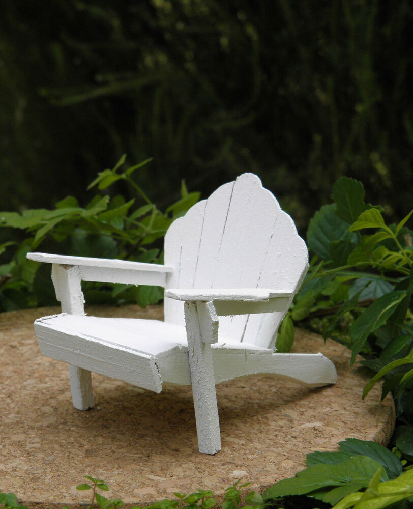 Miniature Dollhouse Fairy Garden Furniture Rustic White