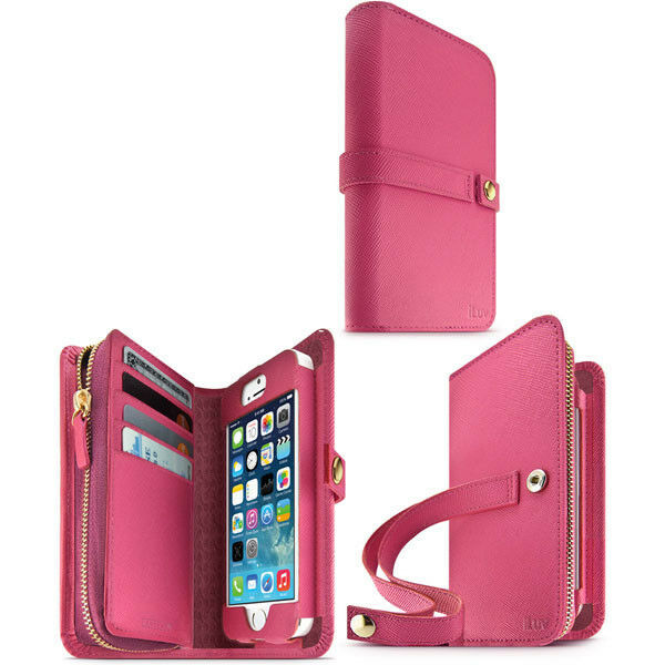 ebay iphone 5s cases iluv ai5jstrpn jstyle runway grain leather for 14041