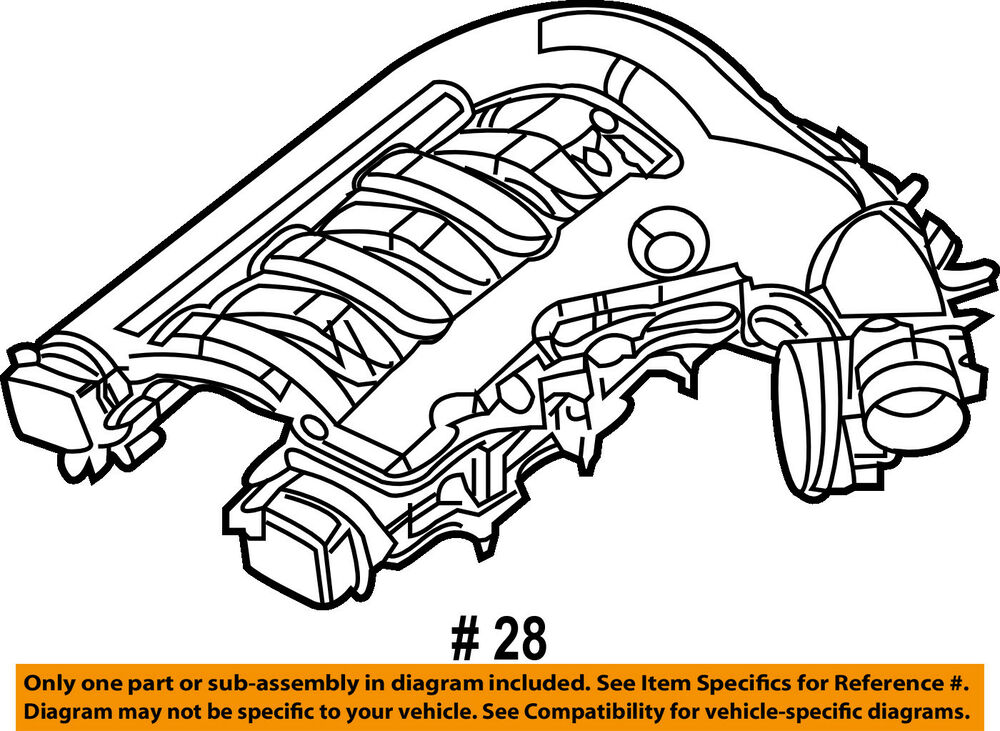 details about chrysler oem engine-intake collector plenum 4591863aj