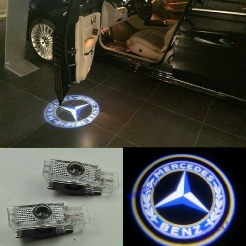 Led door courtesy laser projector light for mercedes benz for Mercedes benz projector lights