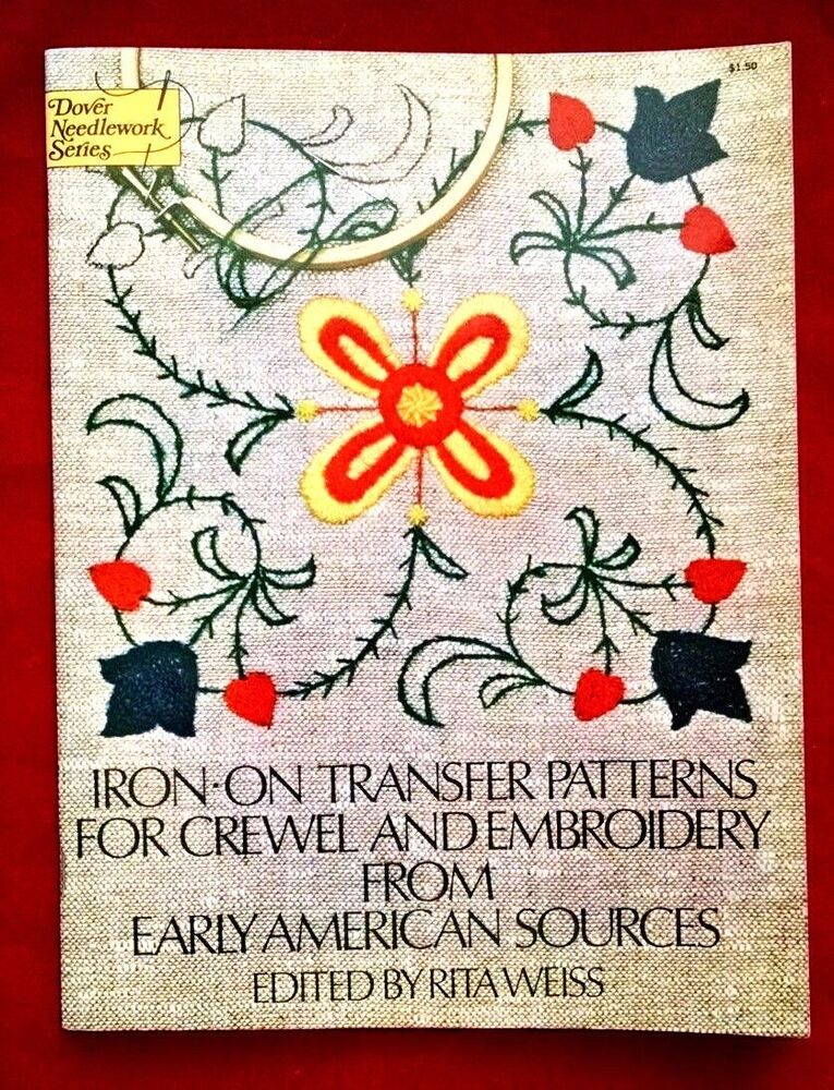 Iron on transfer patterns for crewel and embroidery from