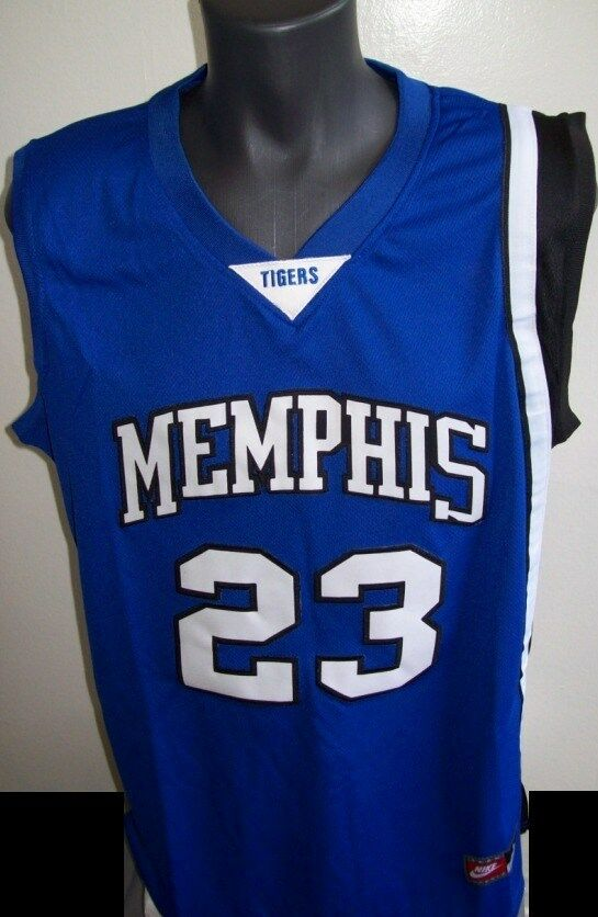 #23 Derrick ROSE Memphis TIGERS Basketball Jersey BLUE S ...